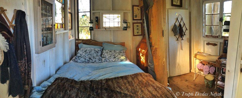 Inside Swallowtail Magic Treehouse Airbnb Petaluma