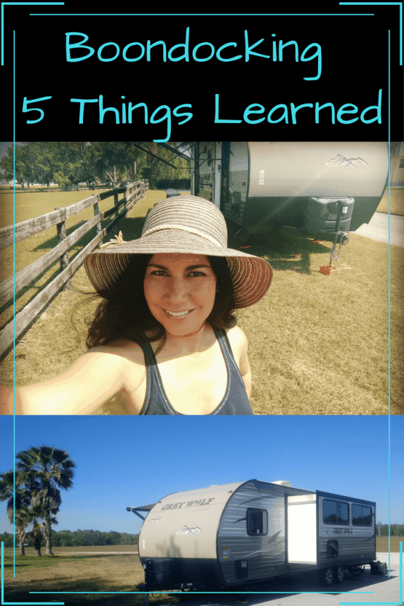 We have been boondocking (aka wild camping, wild camping, RVing without water, electric, or sewer hookups) and have learned so much about water, electricity, and our overall needs. Check out the post to learn from our mistakes.