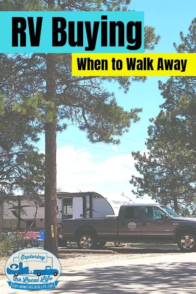 Ready to go RV buying? Review this list of tips, red flags, & other warnings to help you make a good decision when RV shopping. Don't buy that RV without reading this article! #rvlife #rvlifestyle