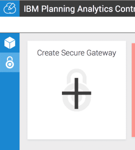 create secure gateway for planning analytics