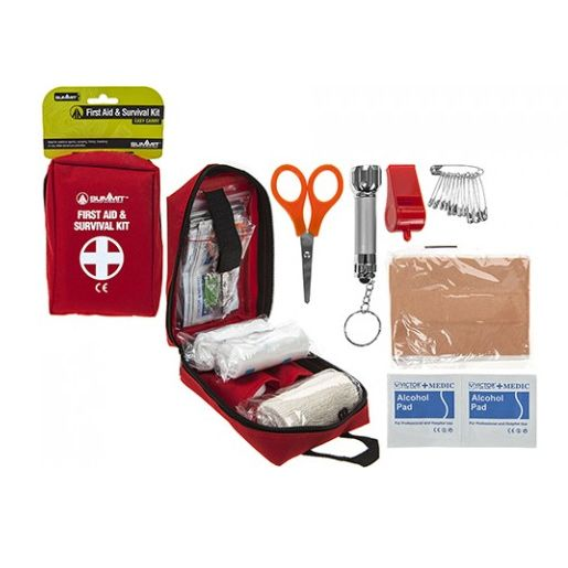 A combined First Aid and Survival Kit. Not really my favourite hiking gear, but definitely something I always pack.