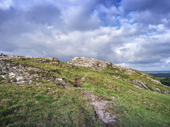 Getting to the top of Brent Tor can be a bit of a scramble