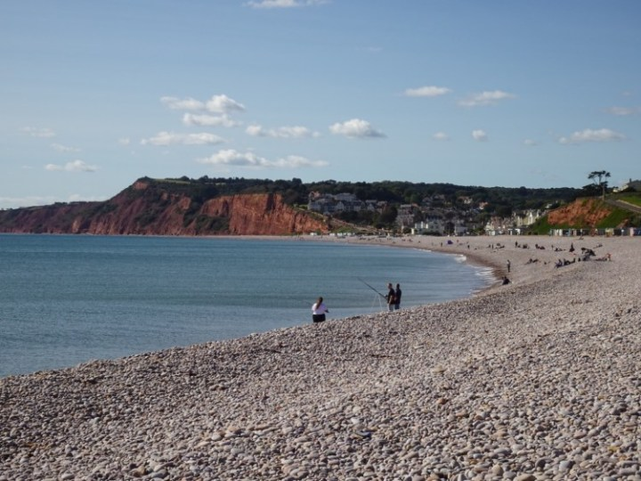 Stunning sea views and bright red triassic cliffs - this is the 5k hike that has it all