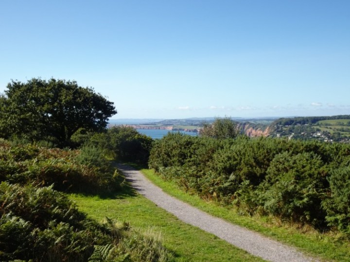 View to the east from Salcombe Hill