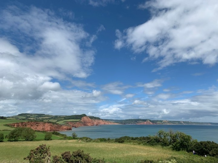 Exploring the Jurassic Coast along the Triassic cliffs from Otterton to Sidmouth