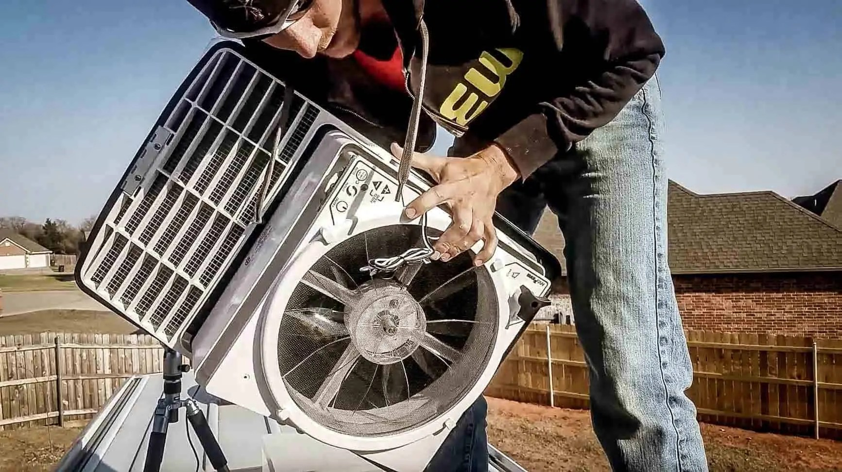 how to install a maxxair roof vent fan