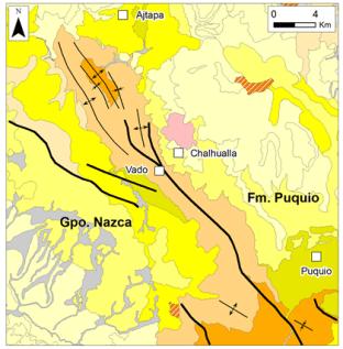 1.1. Mapa geologico de Vado y Puquio