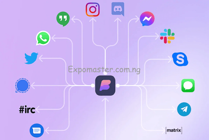 Beeper app linking 15 chat together