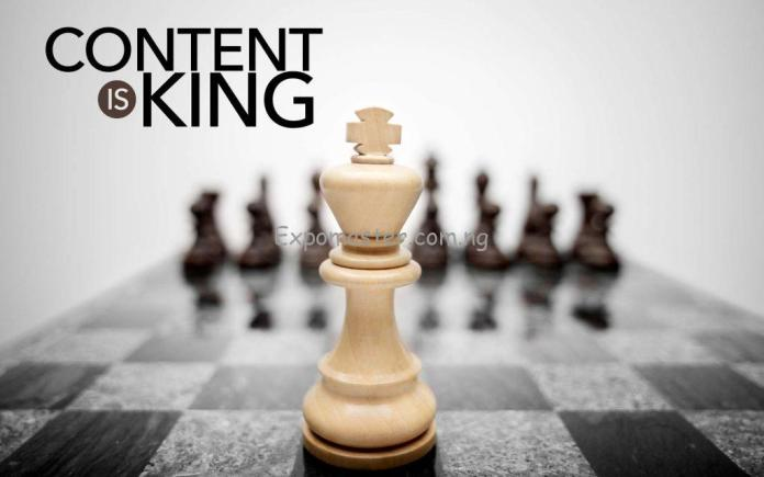 great content helps increase traffic to a website