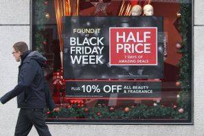 Em Londres as compras de Black Friday iniciam o Natal