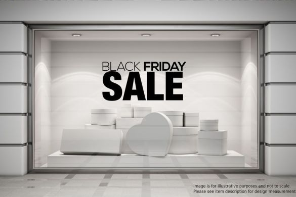 Ideia para vitrine de Black Friday