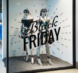 Ideia para vitrine de Black Friday_