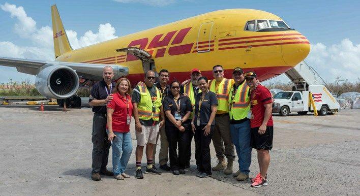 El equipo de DHL de ayuda a Puerto Rico