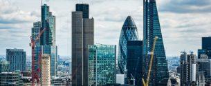 Las consecuencias del Brexit. imagen del distrito económico de Londres