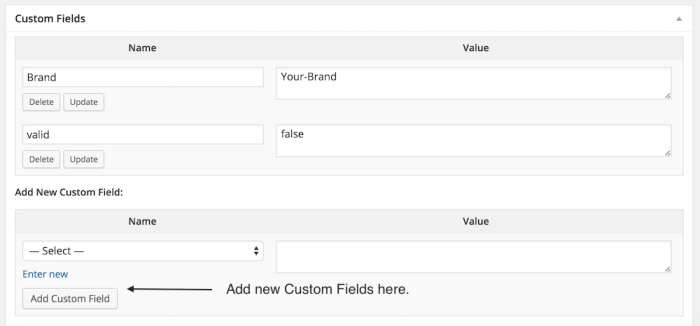mappable custom fields