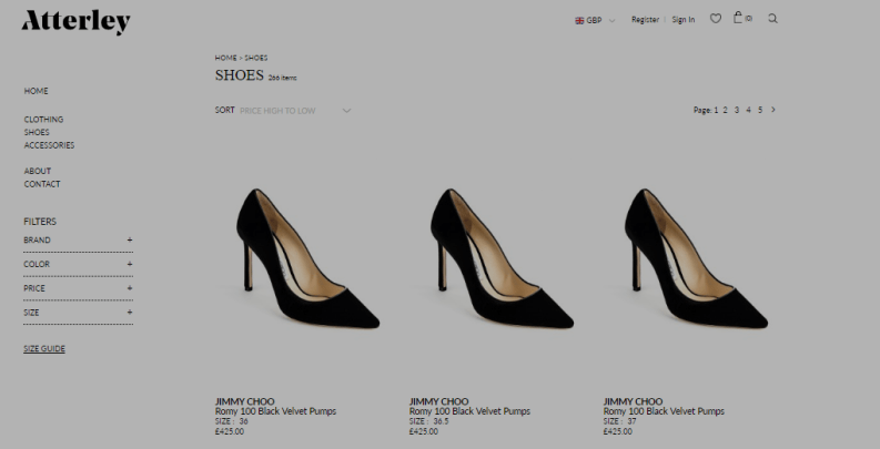 use ExportFeed to sell shoes on Atterley
