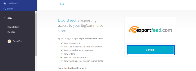 confirm-installation-bigcommerce-control-panel
