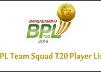 BPL Team Squad 2019