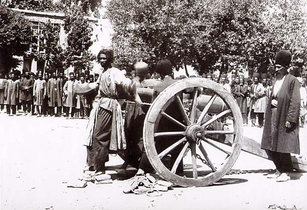 Execution by cannon, Shiraz, Iran, late 19th century