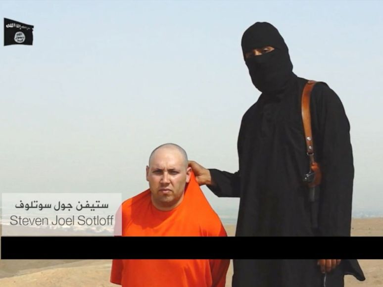 American Steven Sotloff is seen in a gruesome video posted online that earlier appears to show the murder of American journalist James Foley. Obtained by ABC News