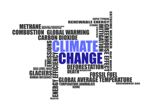 Climate change text image