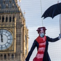mary poppins greenpeace gas mask statement
