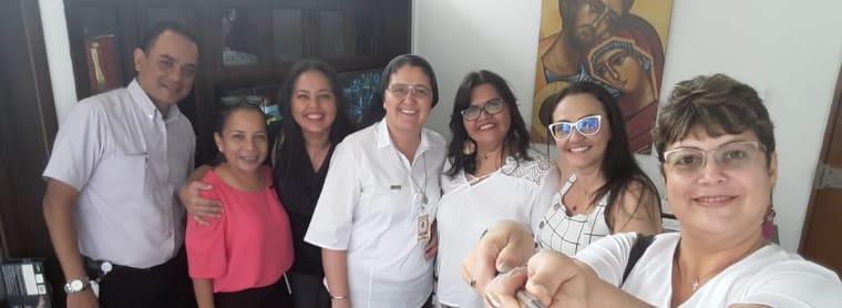 De Izquierda a derecha: Jhon Jairo Torres, Cecilia Baute, Yarime Lobo Baute, Alba Lucia Londoño, Gail Bruges, Amosys Pacheco, Fabiana Gebauer