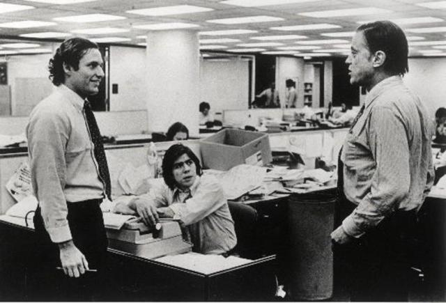 Bob Woodward, Carl Bernstein i Ben Bradley | Author: Pinterest
