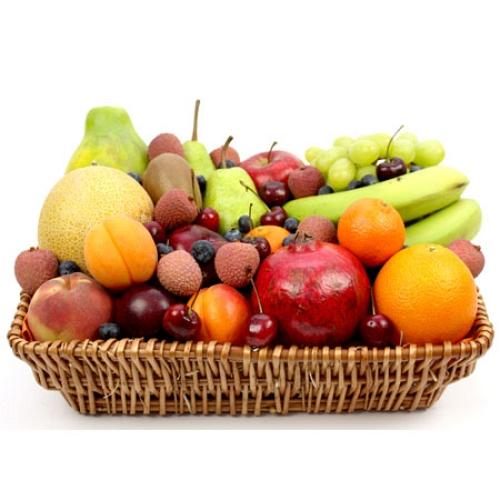 Cherry Berry Fruit Basket Send Fresh Fruits UK