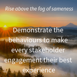 Rise above the fog of sameness