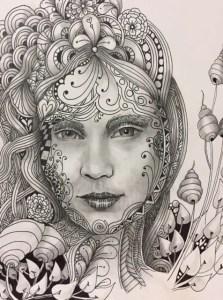 zentangle portrait julie burch