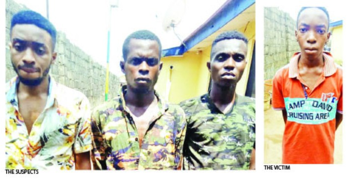 Brothers arrested for kidnapping their youngest brother so as to extort N7m from their grandfather (photo)