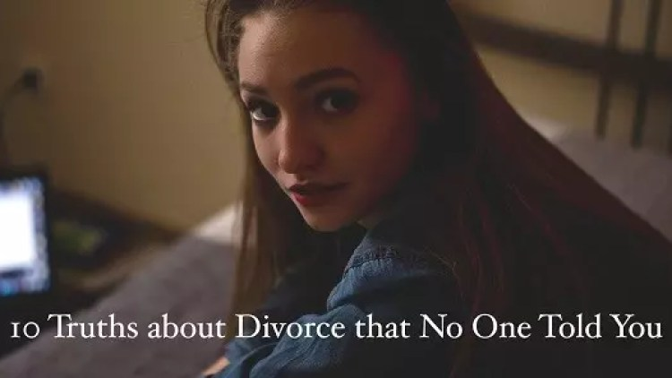 Image of a woman who is going through a divorce