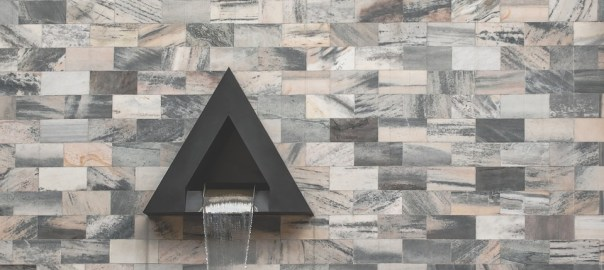 stone cladded wall