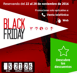 ofertas viajes black friday