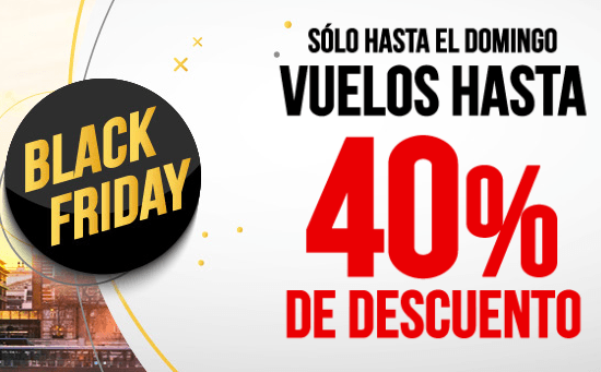 OFERTAS VUELOS BLACK FRIDAY