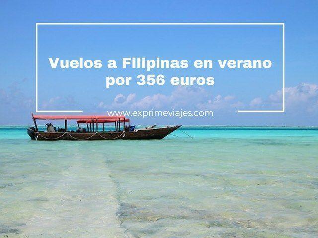filipinas en verano vuelos