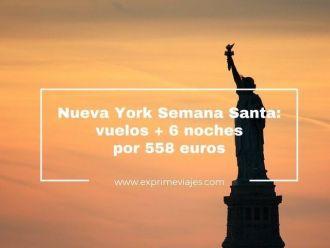 nueva york semana santa vuelos 6 noches