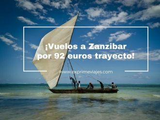 zanzibar vuelos 92 euros trayecto