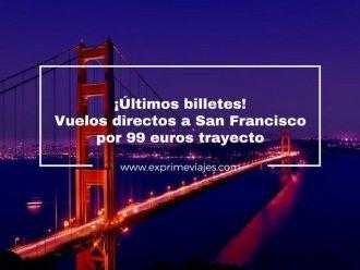 san francisco vuelos directos 99 euros