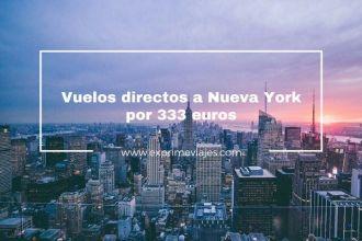 vuelos directos nueva york 333 euros