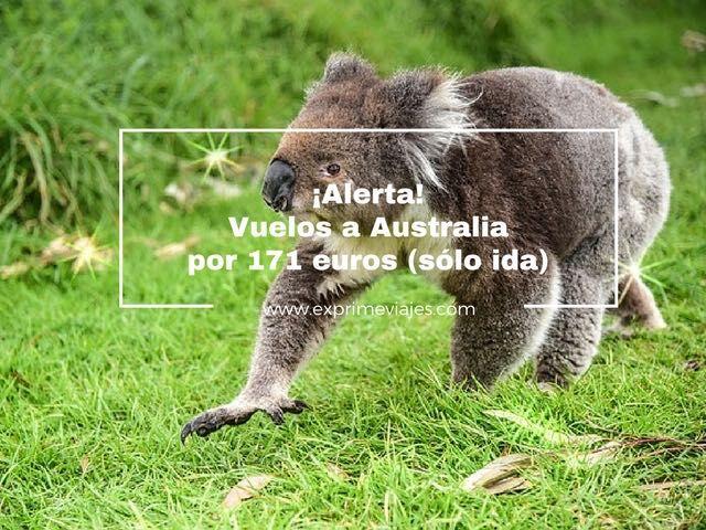 ¡ALERTA! VUELOS A AUSTRALIA POR 171EUROS (SÓLO IDA) DESDE ATENAS
