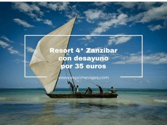 zanzibar resort 4 estrellas 35 euros