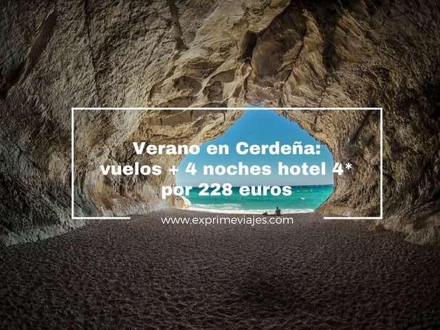 cerdeña verano vuelos hotel 4* 4 noches 228 euros