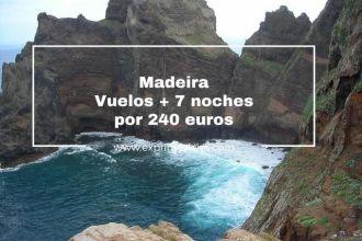 madeira vuelos + 7noches 240 euros