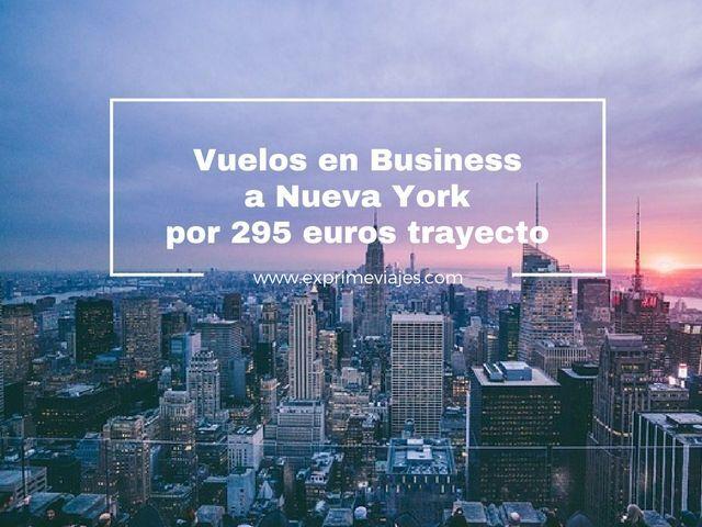 nueva york vuelos business 295 eruros trayecto tarifa error