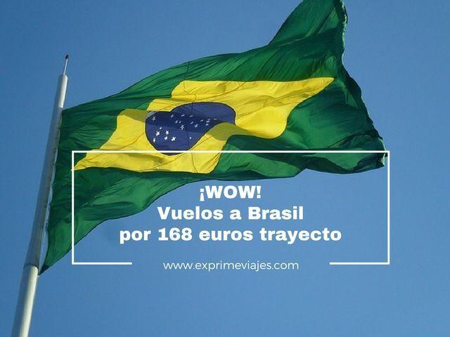 brasil vuelos 168 euros trayecto