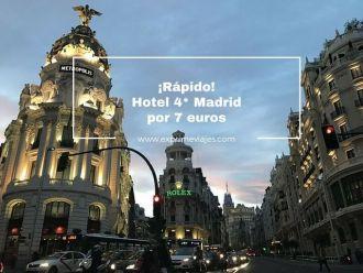 madrid tarifa error hotel 4* 7 euros