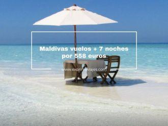maldivas vuelos + 7 noches por 558 euros