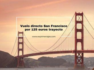 vuelos directo san francisco por 125 euros trayecto